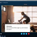 virtuelles Arbeiten- bei der Diskussion