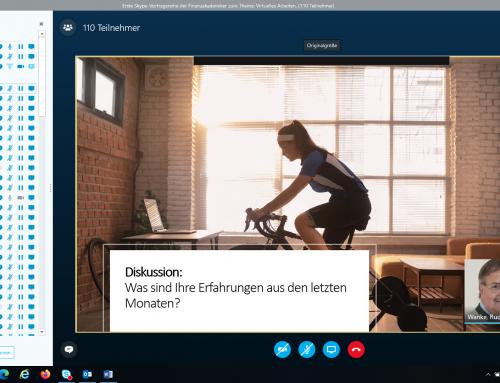 """Skype-Vortrag """"virtuelles Arbeiten"""" mit Frau Mag. Reichmann-Seifert"""